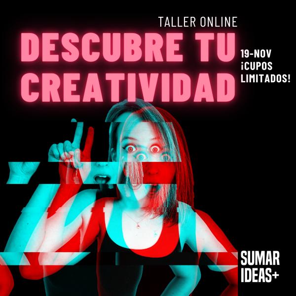 Afiche taller creatividad